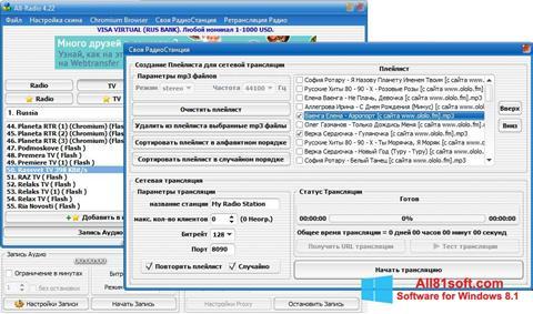 スクリーンショット All-Radio Windows 8.1版