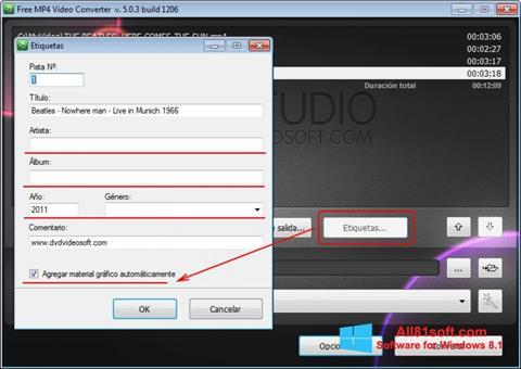 スクリーンショット Free MP4 Video Converter Windows 8.1版