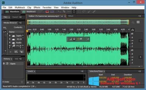 スクリーンショット Adobe Audition CC Windows 8.1版