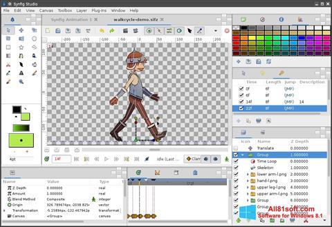 スクリーンショット Synfig Studio Windows 8.1版