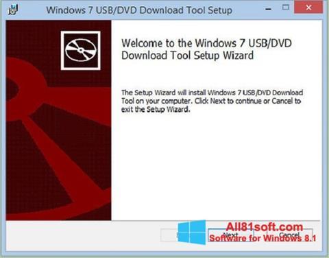 スクリーンショット Windows 7 USB DVD Download Tool Windows 8.1版