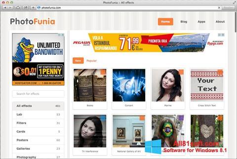 スクリーンショット PhotoFunia Windows 8.1版