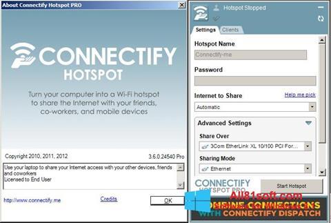 スクリーンショット Connectify Windows 8.1版