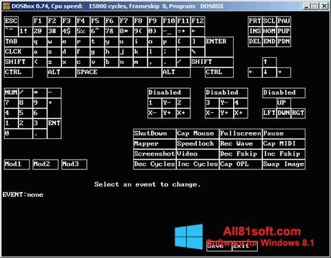 スクリーンショット DOSBox Windows 8.1版
