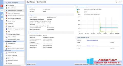 スクリーンショット Kerio Control Windows 8.1版