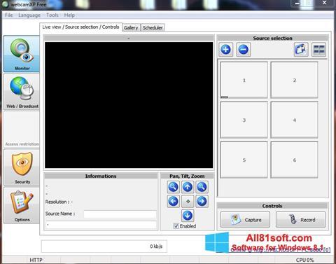 スクリーンショット webcamXP Windows 8.1版