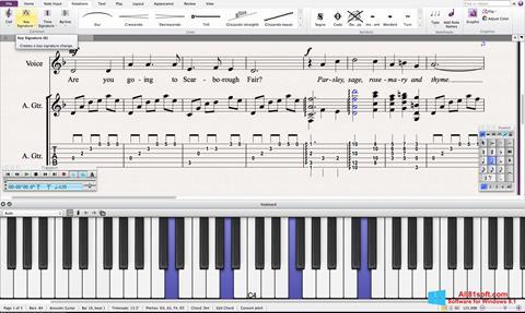 スクリーンショット Sibelius Windows 8.1版
