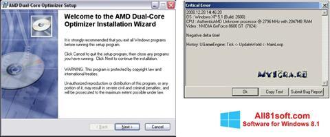 スクリーンショット AMD Dual Core Optimizer Windows 8.1版