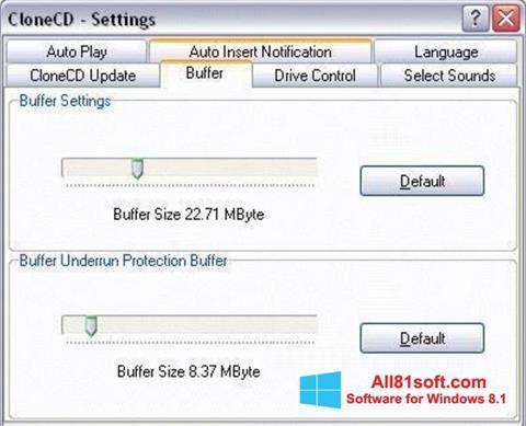 スクリーンショット CloneCD Windows 8.1版