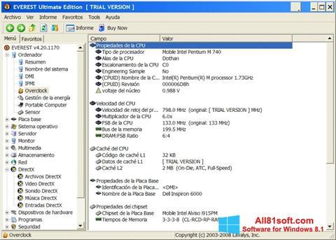 スクリーンショット EVEREST Ultimate Edition Windows 8.1版