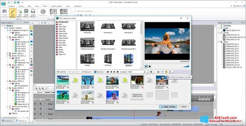 スクリーンショット VSDC Free Video Editor Windows 8.1版