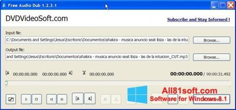 スクリーンショット Free Audio Dub Windows 8.1版