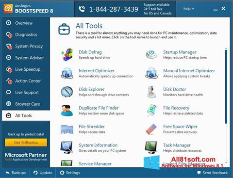 スクリーンショット Auslogics BoostSpeed Windows 8.1版