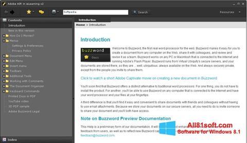 スクリーンショット Adobe AIR Windows 8.1版