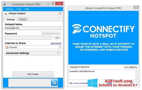 スクリーンショット Connectify Pro Windows 8.1版