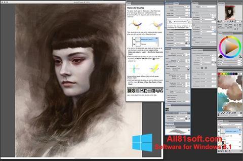 スクリーンショット Corel Painter Windows 8.1版