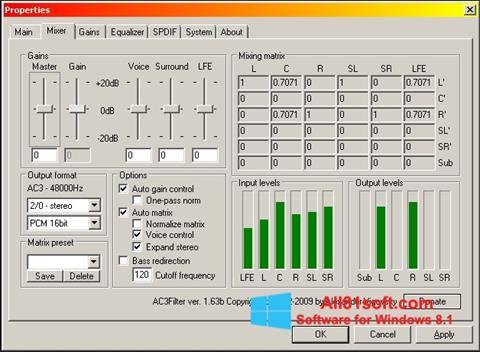 スクリーンショット AC3 Codec Windows 8.1版
