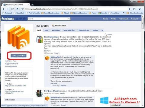 スクリーンショット Facebook Windows 8.1版