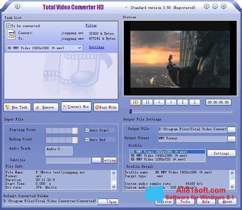 スクリーンショット Total Video Converter Windows 8.1版