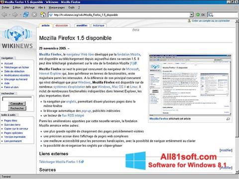 スクリーンショット Mozilla Firefox Windows 8.1版