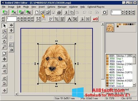 スクリーンショット Embird Windows 8.1版