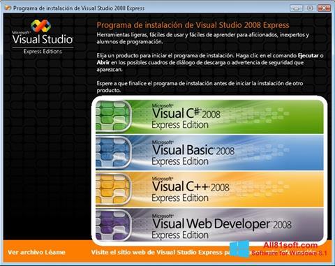 スクリーンショット Microsoft Visual Studio Windows 8.1版