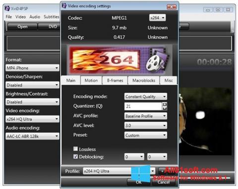 スクリーンショット XviD4PSP Windows 8.1版