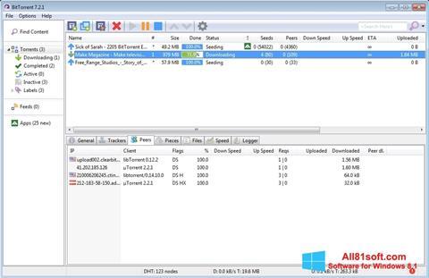 スクリーンショット BitTorrent Windows 8.1版