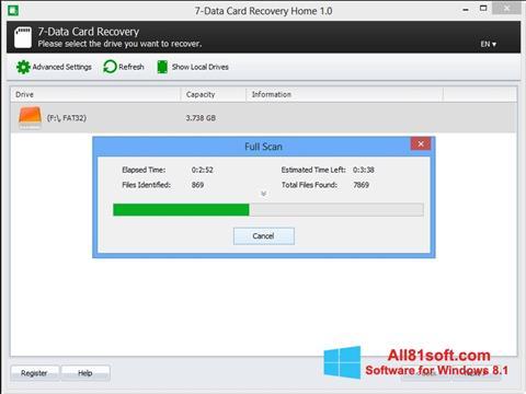 スクリーンショット CardRecovery Windows 8.1版
