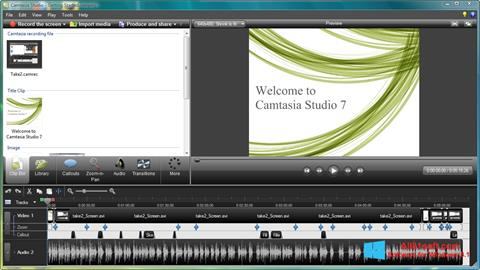 スクリーンショット Camtasia Studio Windows 8.1版