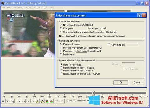 スクリーンショット VirtualDubMod Windows 8.1版