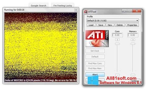 スクリーンショット ATITool Windows 8.1版