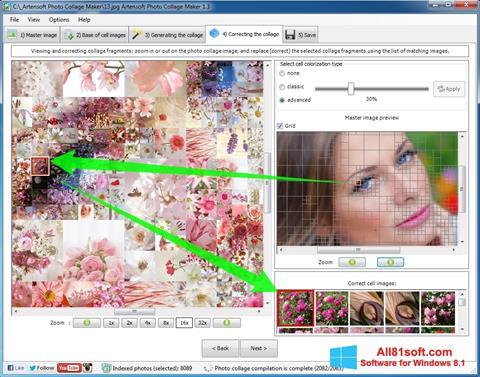 スクリーンショット Photo Collage Windows 8.1版