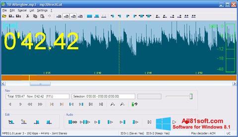 スクリーンショット mp3DirectCut Windows 8.1版