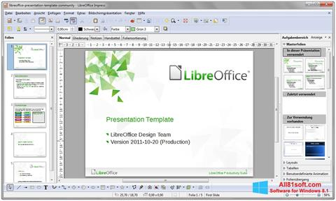 スクリーンショット LibreOffice Windows 8.1版