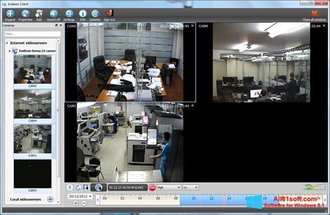 スクリーンショット Ivideon Server Windows 8.1版