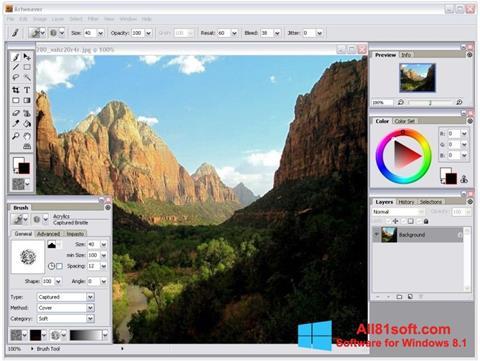 スクリーンショット Artweaver Windows 8.1版