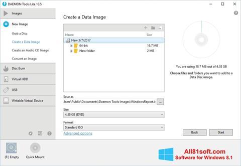 スクリーンショット DAEMON Tools Lite Windows 8.1版