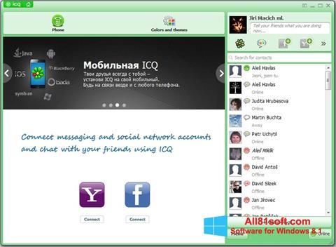 スクリーンショット ICQ Windows 8.1版