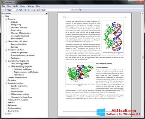 スクリーンショット Sumatra PDF Windows 8.1版