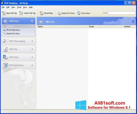 スクリーンショット PGP Desktop Windows 8.1版