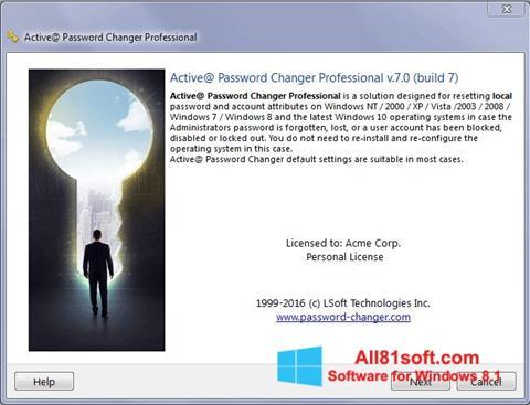 スクリーンショット Active Password Changer Windows 8.1版