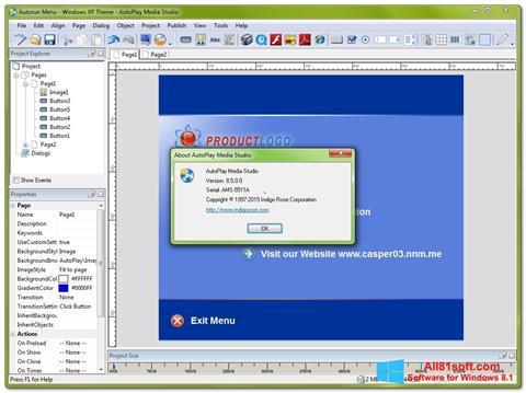 スクリーンショット AutoPlay Media Studio Windows 8.1版