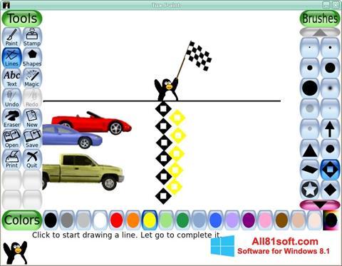 スクリーンショット Tux Paint Windows 8.1版