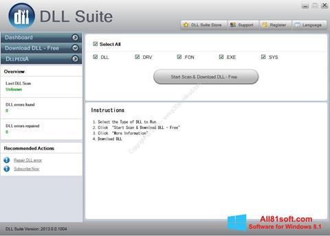 スクリーンショット DLL Suite Windows 8.1版