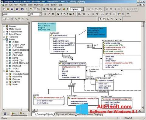 スクリーンショット ERWin Windows 8.1版