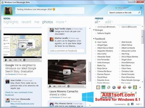 スクリーンショット Windows Live Messenger Windows 8.1版