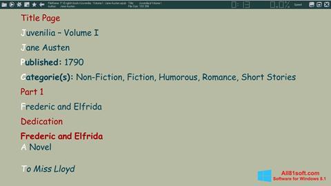 スクリーンショット ICE Book Reader Windows 8.1版