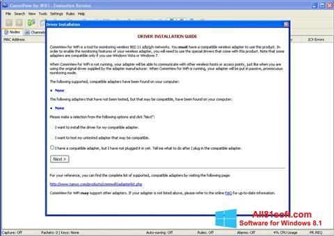 スクリーンショット CommView for WiFi Windows 8.1版