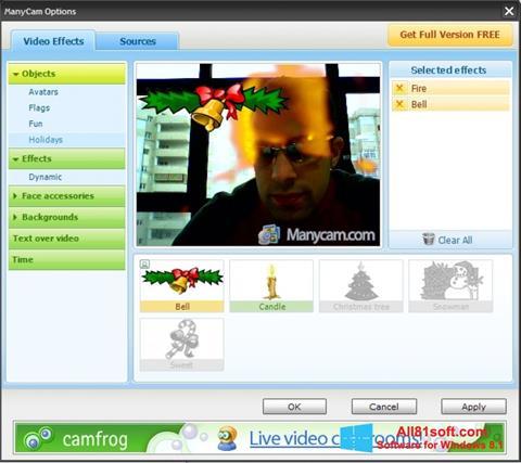 スクリーンショット ManyCam Windows 8.1版